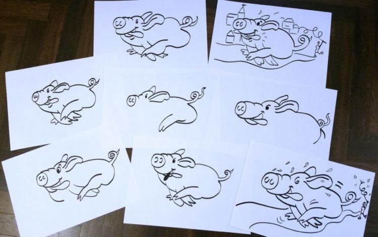 Schweine zeichnen üben